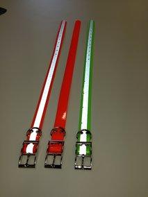 Utbyteshalsband till Garmin med reflex i Biothane
