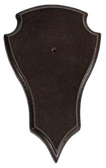 Trofésköld rådjur mörk 20x12 cm