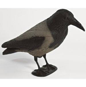 Kråka på ben flockbehandlad