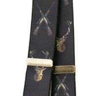 Seeland hängslen med hjortmotiv
