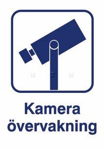 Kameraövervakning Klistermärke 21x15cm