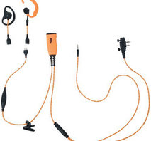 Headset PRO-U710LA Orange tygkabel, öronmussla x2, peltoransl + mobil, med PTT, med skruv