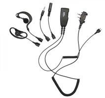 """Headset PRO-U800LA """"5-in-1"""", för Peltor, Sordin, Soundscope och MP-3, med PTT, m skruv"""
