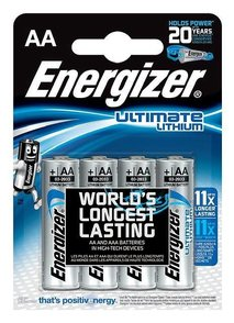 Energizer AA Ultimate Lithium batteri 4-pack