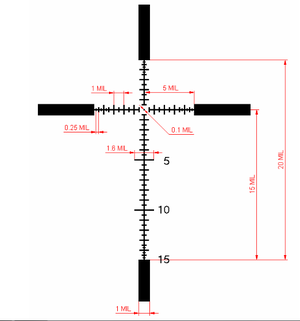 IOR Tactical 3.5-18x50 SF SFP digital IR MIL/MIL