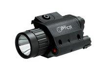 Eftersökslampa 750 lumen vit + röd laser