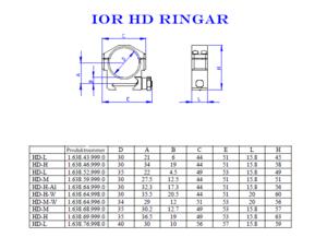 IOR HD-H-A1 extrahöga 30mm ringar
